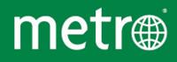 Metro logo vettoriale